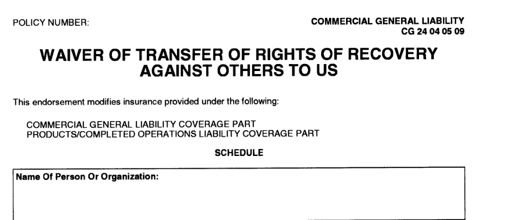 waiver of rights